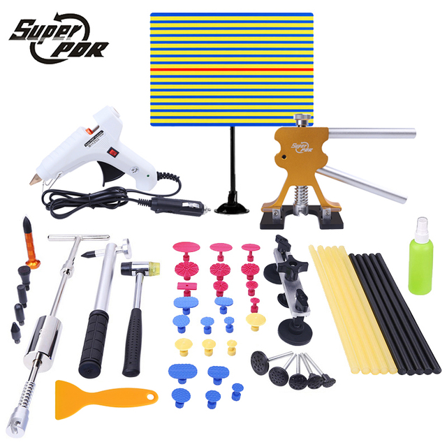 PDR Tools Car Paintless Dent Removal Tools High Quality Slide Hammer Dent Puller Tabs Auto Body Repair Hand Tool Set