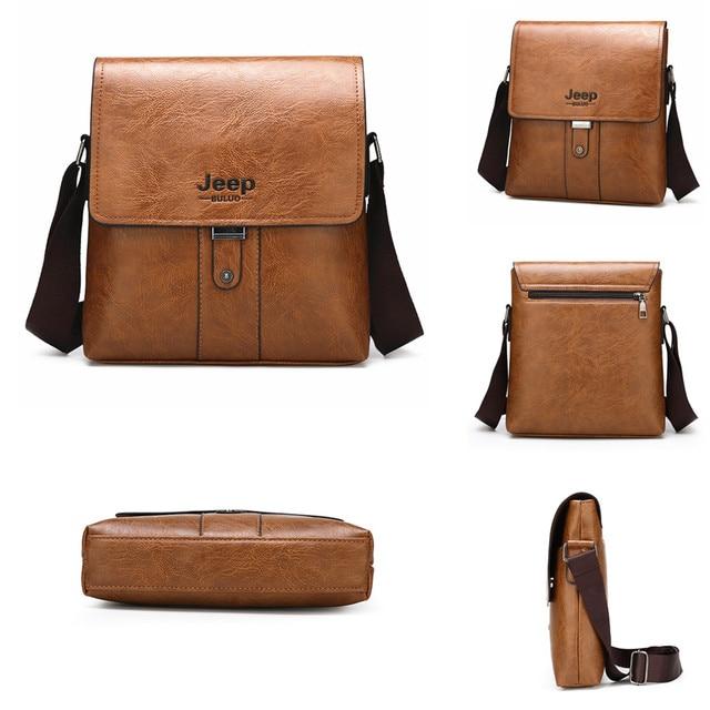JEEP BULUO Men Shoulder Bag Set Big Brand Crossbody Business Messenger Bags For Man Fashion Casual pu Leather New Hot Salling 5
