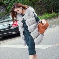 Reroyfu натуральный Лисий Мех животных жилет Для женщин реальные Меховая куртка из натуральной Мех животных пальто
