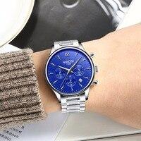 New! NIBOSI Watch Mens Watches Top Brand Luxury Business Stainless Steel Quartz Watch Men Sport Wristwatch Relogio Masculino