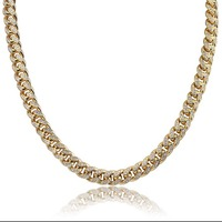 JINAO Miami 10mm Gold Silver Color Cubic Zircon Cuban Chain Necklace Charm For Men Micro Pave Hip Hop Trendy Jewelry Gifts