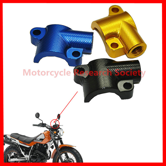 Motorcycle mirror mirror stands for Yamaha TTR250 XT225 XT250 TW200 TW225 CNC aluminium alloy is 10 mm wire tooth
