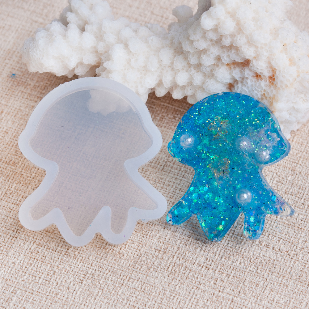 DoreenBeads Octopus Silicone Resin Mold For Jewelry Making White Resin Mold DIY Craft 37mm(1 4/8