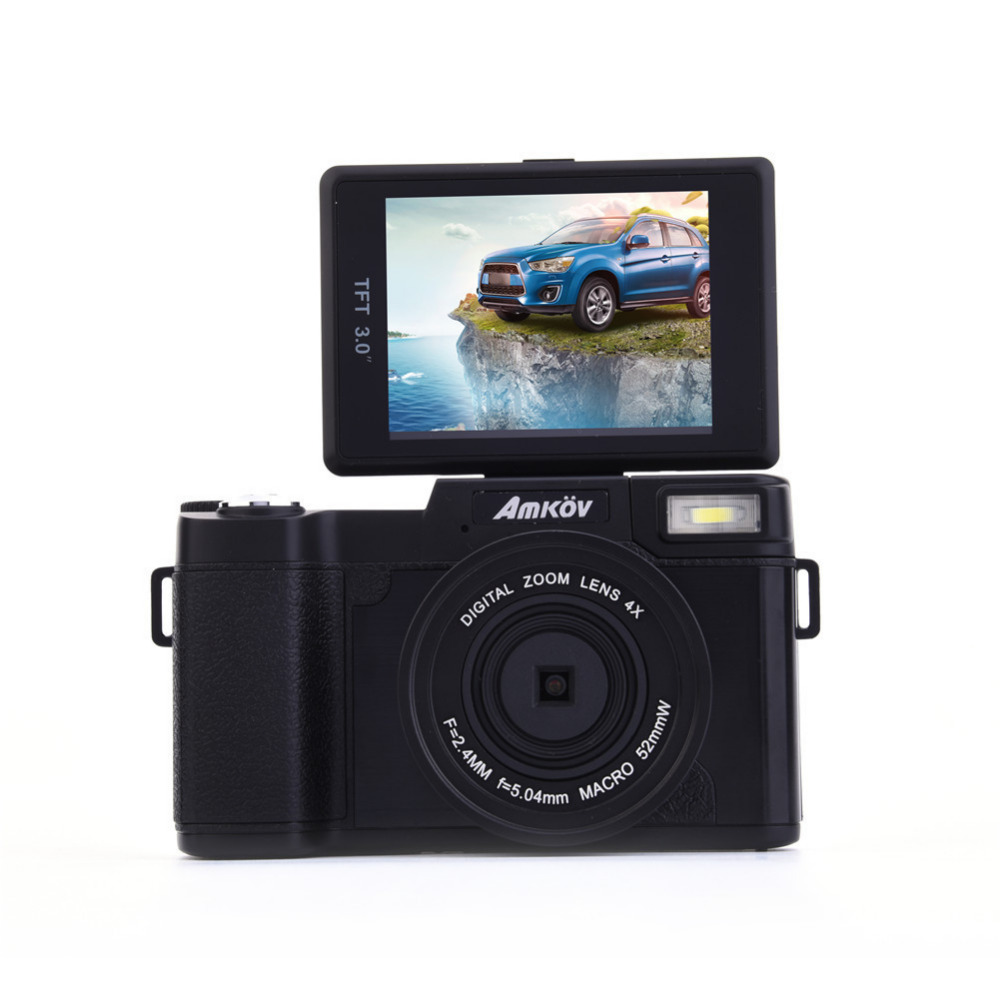 цена на Amkov Digital Camera AMK-CDR2 24 Megapixel 1080P HD Shooting 4 Times Digital Zoom Beauty Self-timer Camera Mini Digital Camera