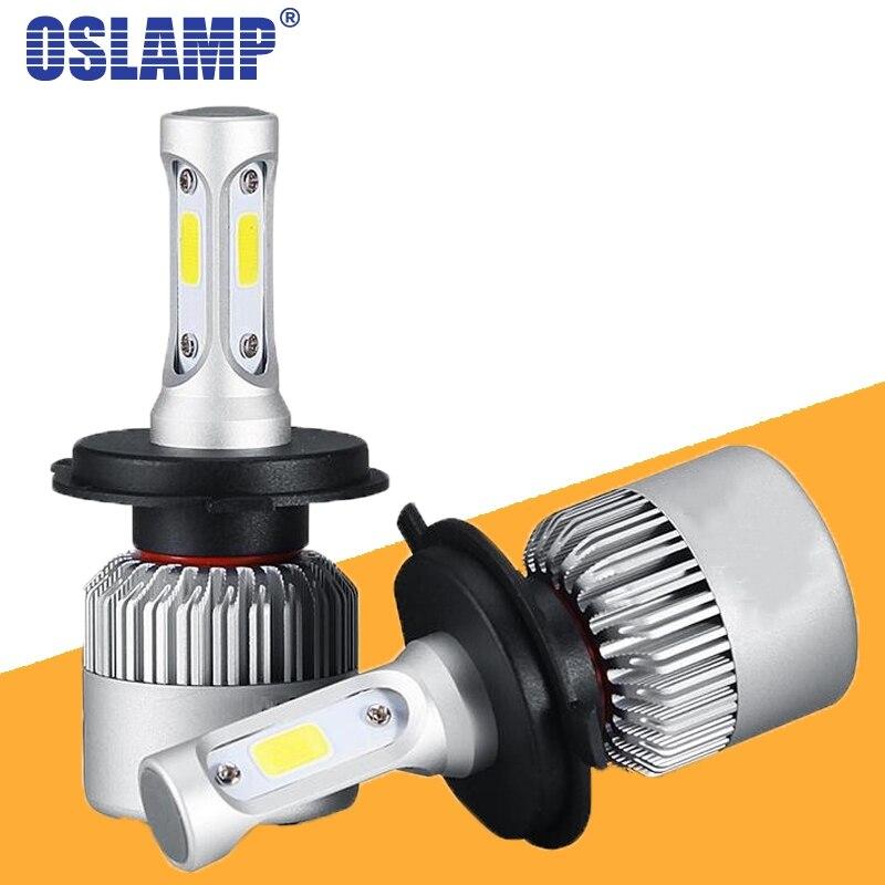 Oslamp S2 LED H4 H7 H13 H11 H1 9005 9006 H3 9004 9007 9012 Автомобильные фары лампы 72 Вт 8000LM Автомобильные светодиодные фары лампы 6500K 12V