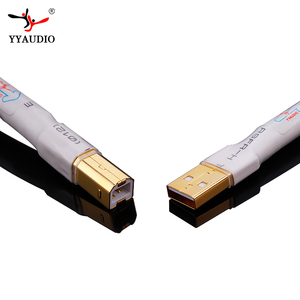 Image 5 - Câble usb Hifi plaqué argent haute qualité 6N OCC Type A B câble USB de données DAC