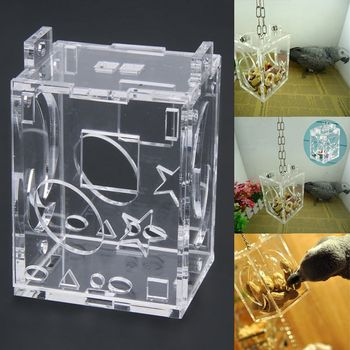 YHYS Practical Unique Parrot Bird Cage Feeder Hang Foraging Toys Pet Treat Hunt Macaw Cockatoo Budgie