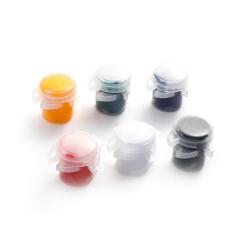 DoreenBeads многоцветная пигментная Краска Силиконовая полимерная форма наполнитель Ювелирный инструмент 6 цветов красный черный белый DIY инструмент 1 коробка