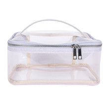 Wonen Fashion Travel Makeup Bag Portable TPU Transparent Cosmetic Simple Waterproof Storage Organizer