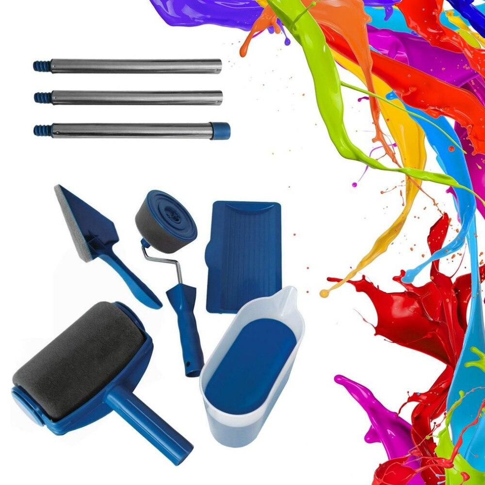 DIY Multifonction Rouleau De Peinture Ensemble Kit De Décoration Peinture Brosse S'attaquer Rouleau Décoratif Peinture Ménages Peinture Outils