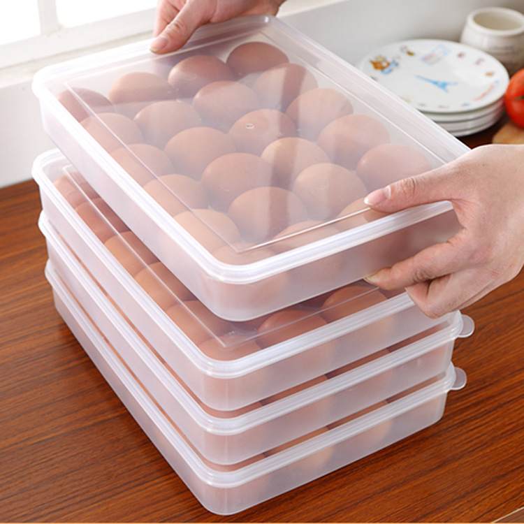 24 grid egg storage box food container keep eggs fresh organizer kitchen storage containers - Kitchen Storage Containers