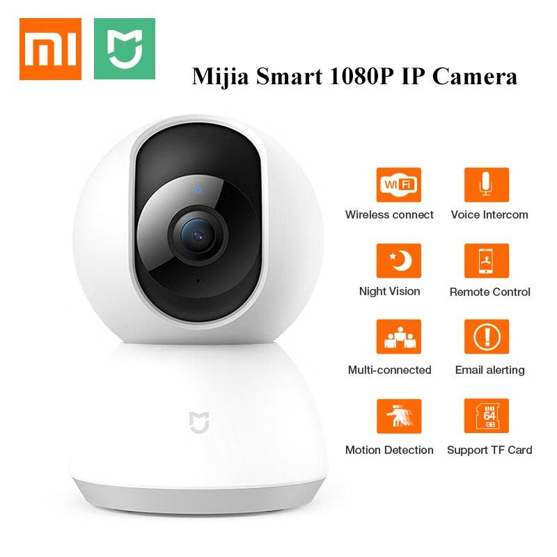 Version mise à jour Xiao mi jia caméra intelligente Webcam 1080P WiFi Vision nocturne panoramique inclinable 360 Angle vidéo mi caméra vue bébé moniteur