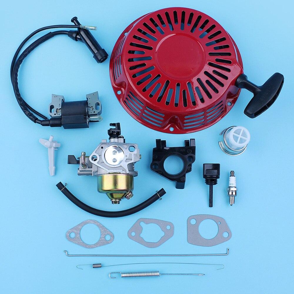Recoil Pull Starter Carburetor Ignition Coil Kit For Honda GX390 GX340 11HP 13HP 188F 190F Gas Generator Lawn Mower Power Engine цена