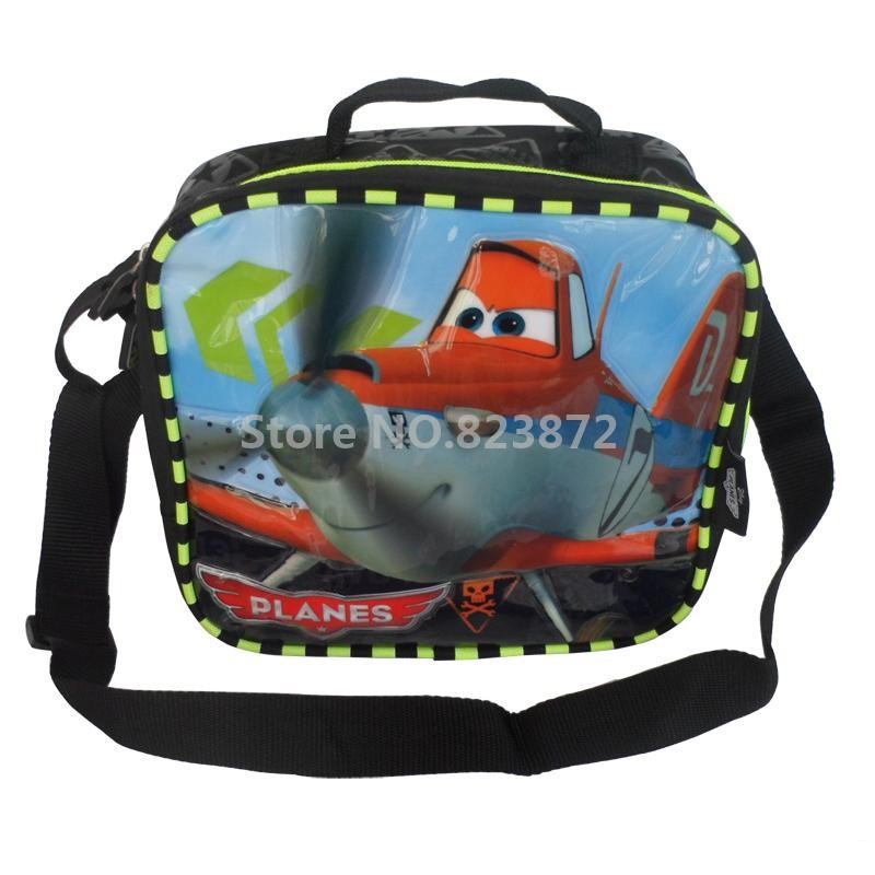 Us 13 8 Planes Dusty Lunch Bag For Kids Boys School Messenger Box Thermal Lunchbag Cartoon Lunchbox Child Picnic Food In