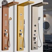 Moderne Edelstahl Regen Wasserfall Dusche Panel Wand SPA Massage System Duschsäule Kit mit Jets Handbrause