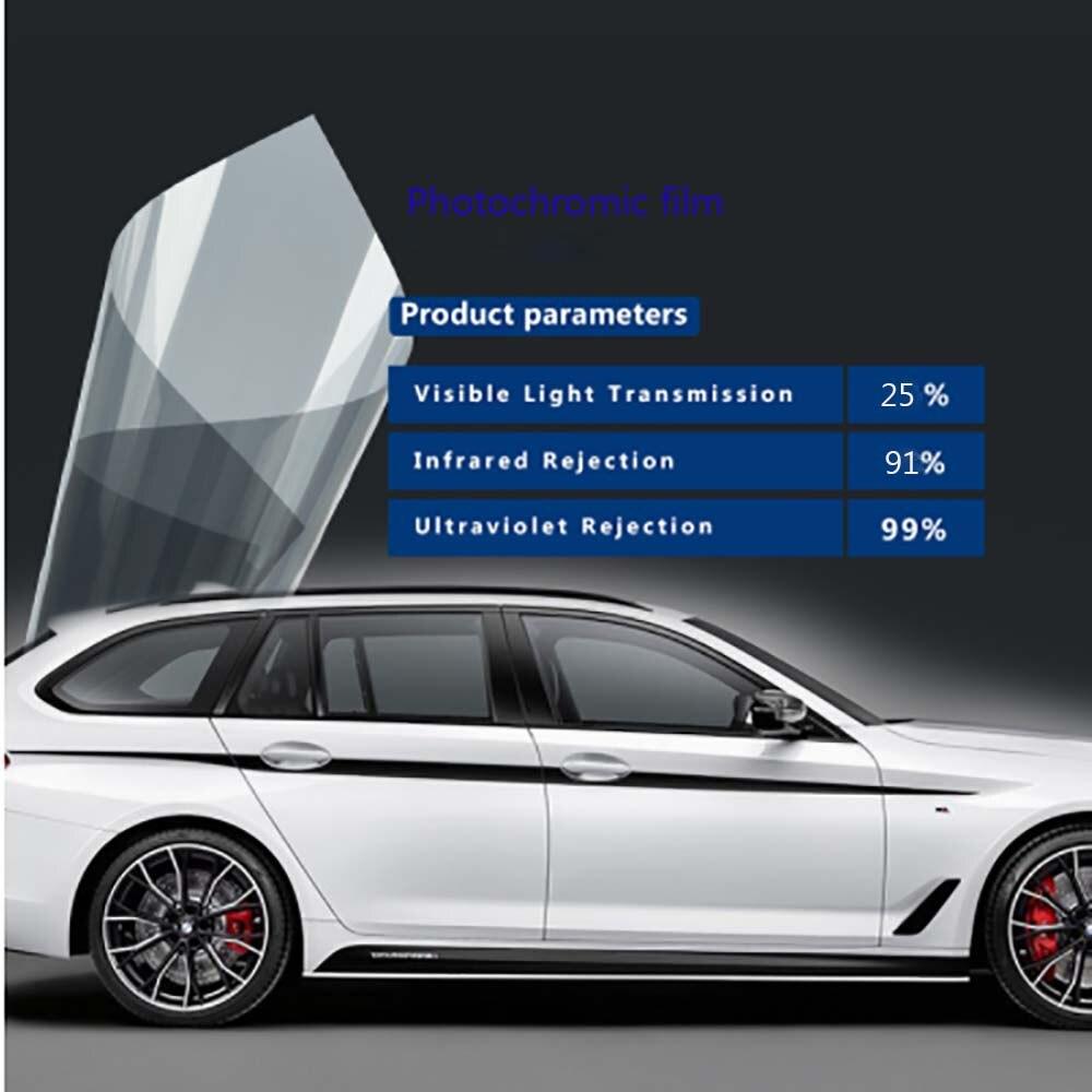 HOHOFILM 152 cm x 100 cm 25% VLT Photochromiques Film Car Auto Accueil Verre Fenêtre Teinte Intelligent Optiquement-Contrôlée accessoires de voiture