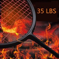 Good Quality 3U Offensive Type Black Shot Full Carbon Badminton Racket High Pounds Up To 35LBS With Stringing Service Q1015CMD