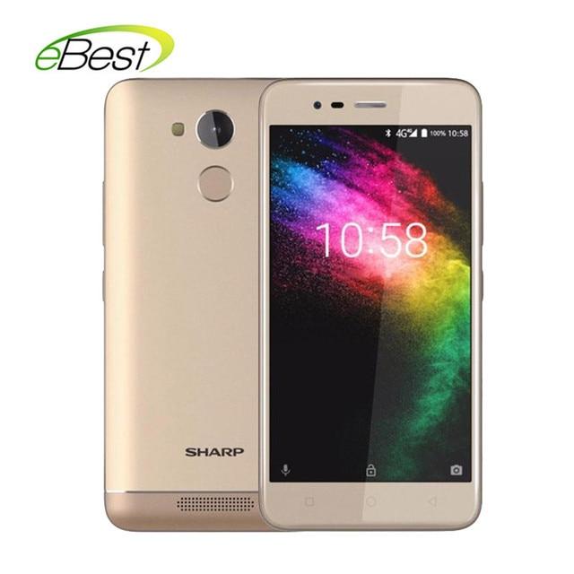 Sharp R1 5.2'' Smartphone 720 x 1280 pixels 16:9 ratio 4000mAh 3GB RAM 32GB ROM Mobile Phone MT6737 Quad Core Android Cellphone