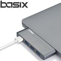 Basix usb C Hub 4 in 1 USB type C Hub Adapter met 4 USB 3.0 poorten transmissionport met Hoge snelheid voor MacBookPro pro en andere