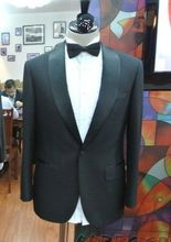 New Luxury Mens Suits (jacket+ pant +tie) Tuxedo Dinner Fit Suit Custom Made