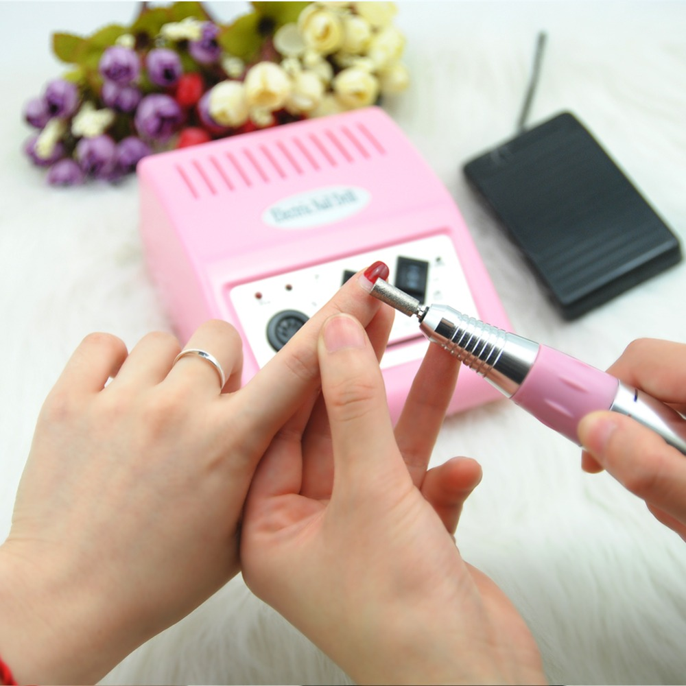 Electric Nail Drill Machine 30000RPM Nail Cutter Bit Pedicure Manicure Machine Nail Drill Bit Nail Pen Machine Set Polisher Tool eruika 1pc diamond f size bur nail drill bit electric mills nail cutter manicure machine polishing for nail and pedicure