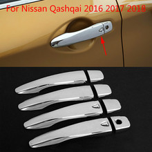 High-quality ABS Chrome trim Door Handle Cover For Nissan Qashqai 2016 2017 2018  Car-styling Car-covers