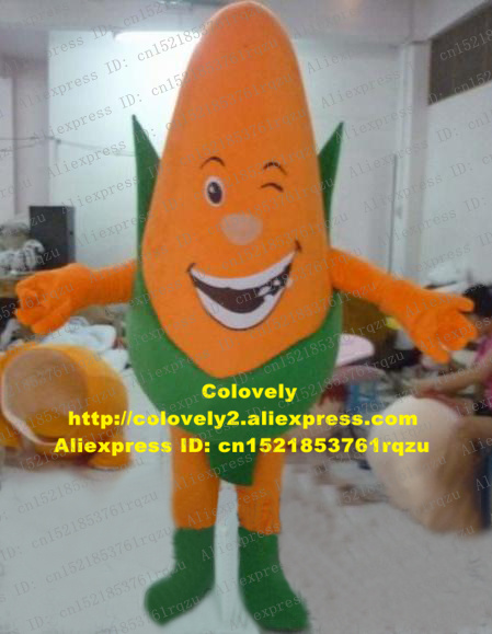 Naughty Orange Corn Maize Zea Mays Grain Cereals Mascot -3076