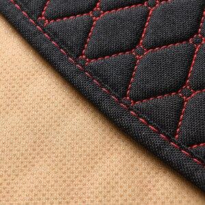 Image 4 - 1 מושב מכונית פשתן כיסוי מושב עם משענת מושב רכב כרית מגן כרית Mat אוטומטי קדמי רכב סטיילינג פנים