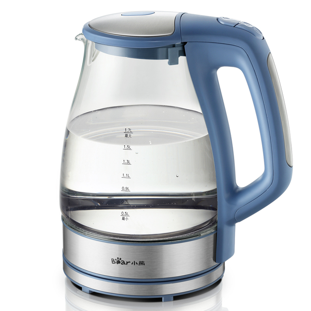 New arrival bear zdh-990 electric heating kettle electric heating kettle glass pot