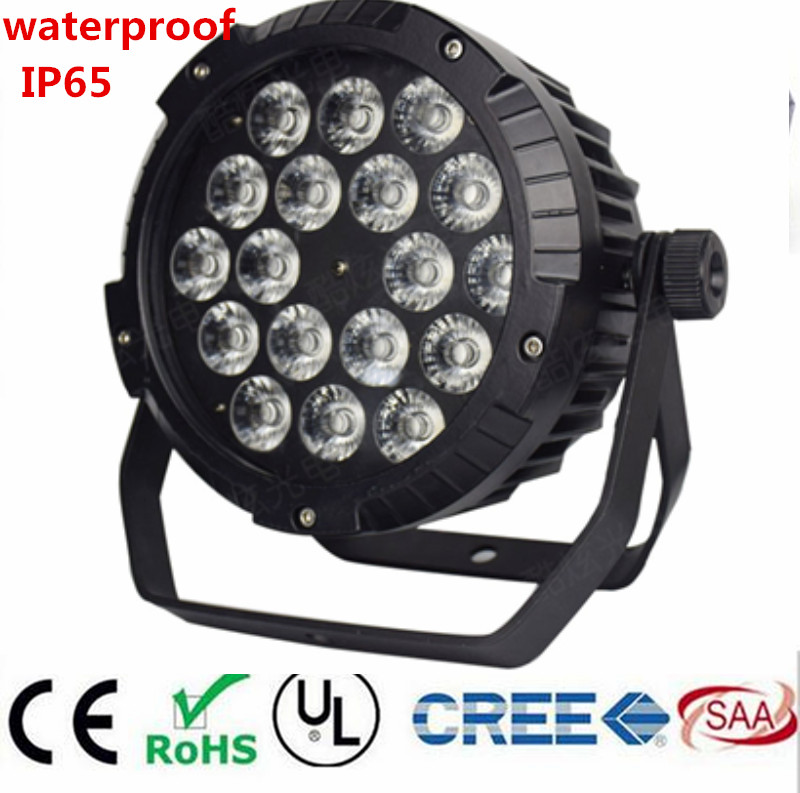 18x18W RGBWA UV 6IN1 18X12W IP65 Waterproof Led Par Lights, RGBW 4in1 LED PAR  DMX Control Stage DJ Equipment Disco Lights