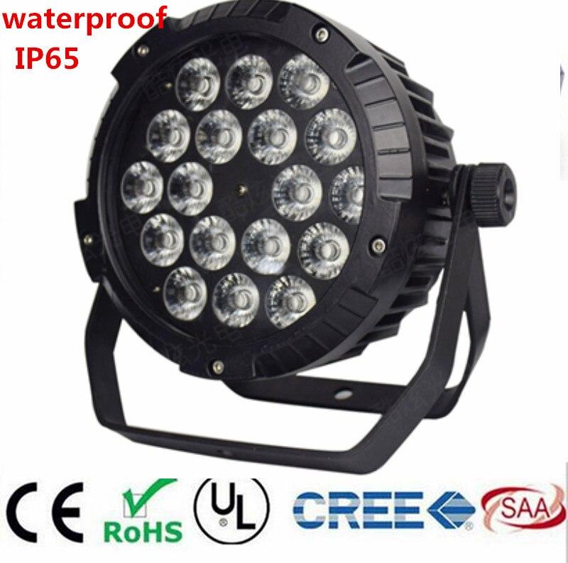 18x6IN1 18X12W IP65 18W RGBWA UV à prova d' água led Par Luzes, RGBW 4in1 LED PAR estágio de controle DMX equipamento DJ discoteca luzes