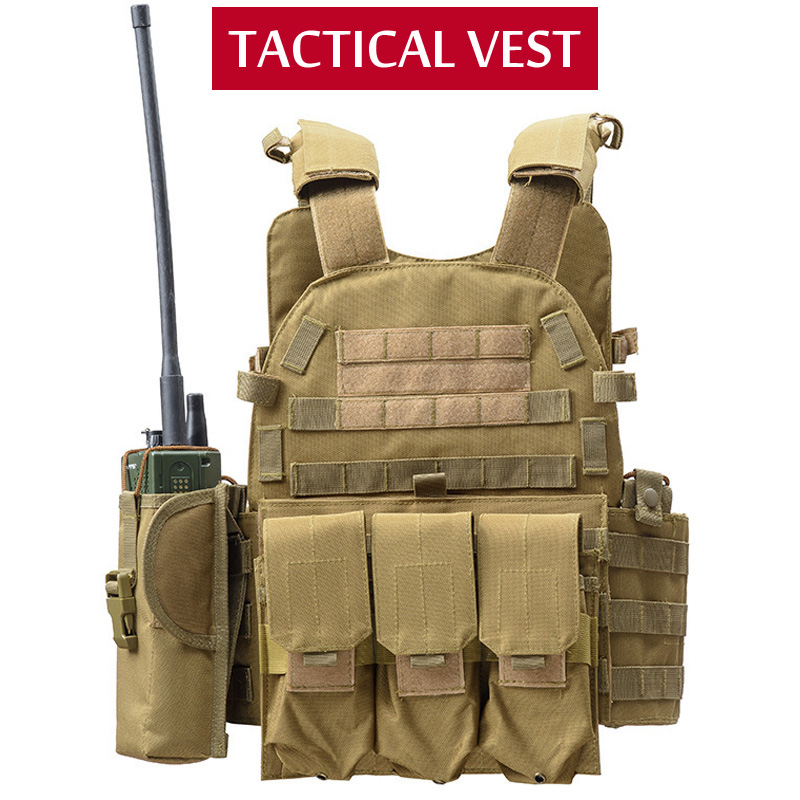 Tactical Vest Hunting Equipment Airsoft Vest Army Military Gear Outdoor Paintball Police Molle Vest For CS Wargame 6 Colors
