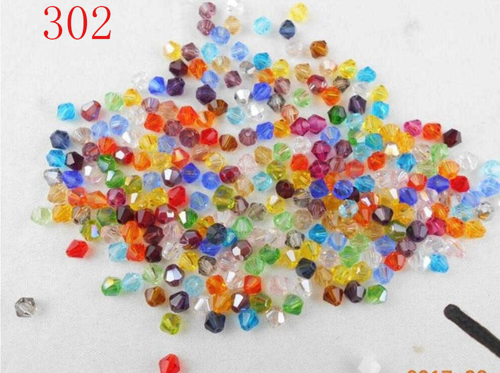 FLTMRH Sale U Pick Color 3mm 4mm 6mm 8mm Bicone Austria Crystal Bead charm Glass Bead Loose Spacer Bead for DIY Jewelry Makin