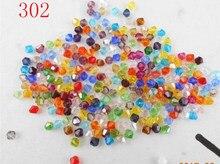 FLTMRH – perles en cristal Bicone d'autriche, perles en verre, breloques, pour bricolage de bijoux, 3mm, 4mm, 6mm, 8mm