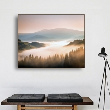 Laeacco Canvas Calligraphy Painting Mountain River Tree Wall Artwork Posters and Prints Home Bedroom Decoration Pictures