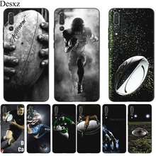 Silicone Mobile Phone Case For Huawei P30 P20 P10 P9 P8 Lite Pro P Smart Cover TPU Rugby Ball Sport Shell(China)