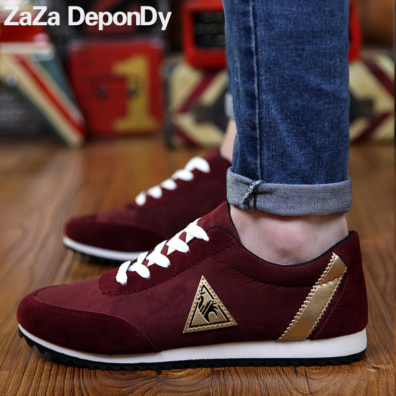 outdoor mens running shoes leather men sneakers zapatillas hombre deportiva lace up free flexible lightweight sport shoes men