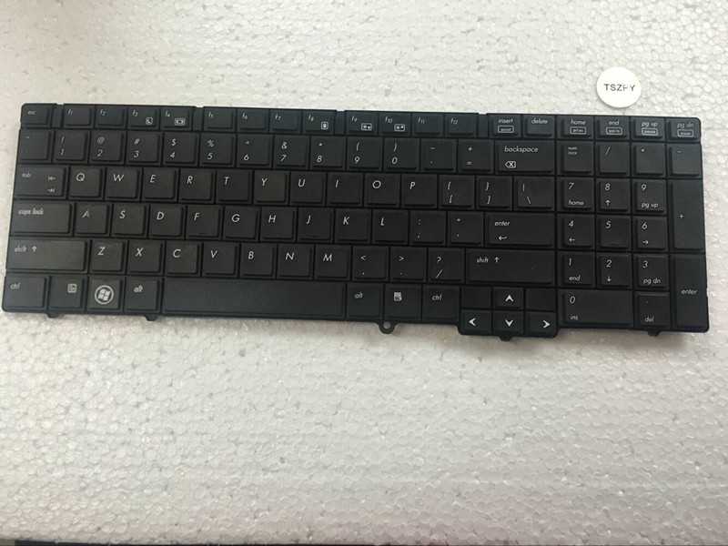 New US Keyboard For HP EliteBook 8540 8540P 8540W laptop US Keyboard without pointing sticks gzeele hot selling english keyboard for hp elitebook 8440p 8440w 8440 us laptop keyboard black without point stick