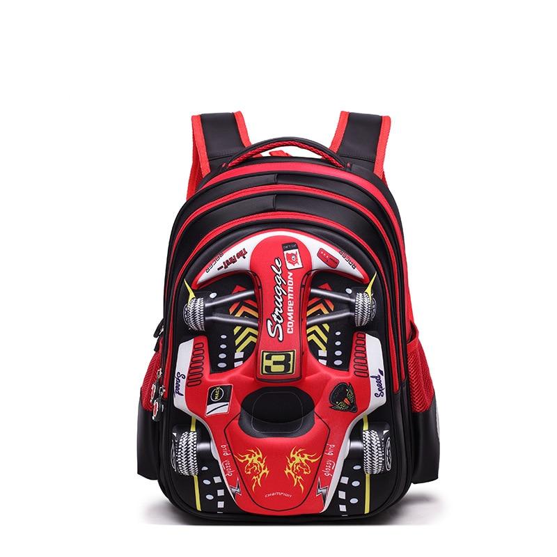 2017 New Cartoon 3D Boy Racing Car School Bags Children Waterproof Schoolbag Book Bag Primary school Backpack Kids Satchel Girls unme children schoolbag for grade 1 3 girls backpack waterproof leather light for boy