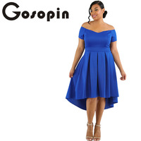 Gosopin Black Off Shoulder Summer Dress Plus Size Swing Dress Vestido Formal Verano 2017 European Style
