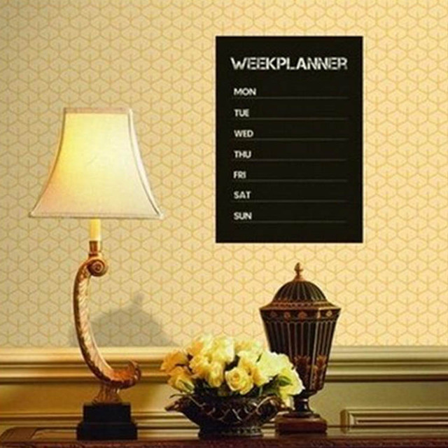 New Blackboard Wall Sticker Removable Vinyl Chalkboard Wallpaper for ...