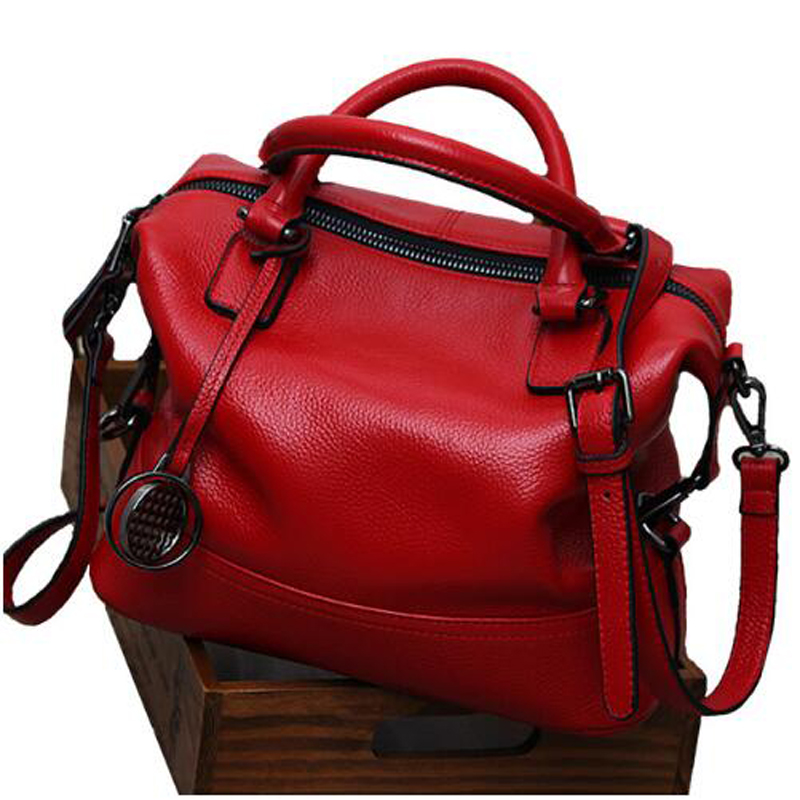 Brand Women Genuine Leather Handbag Spring Boston Designer Women Handbag Tote Shoulder Bag Ladies Purse Casual Satchel Capacity blazer nife blazer