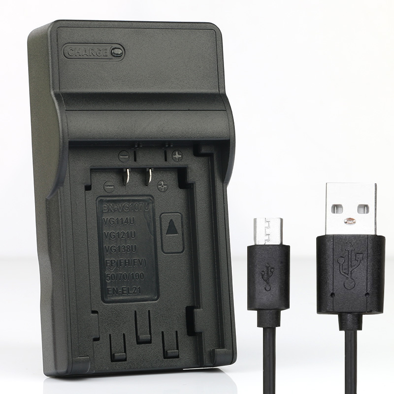 LANFULANG USB Charger for NP-FV50 Rechargeable Battery for <font><b>Sony</b></font> FDR-AX40 HDR-<font><b>CX110</b></font> HDR-CX115 HDR-CX116 HDR-CX130 HDR-CX170 image