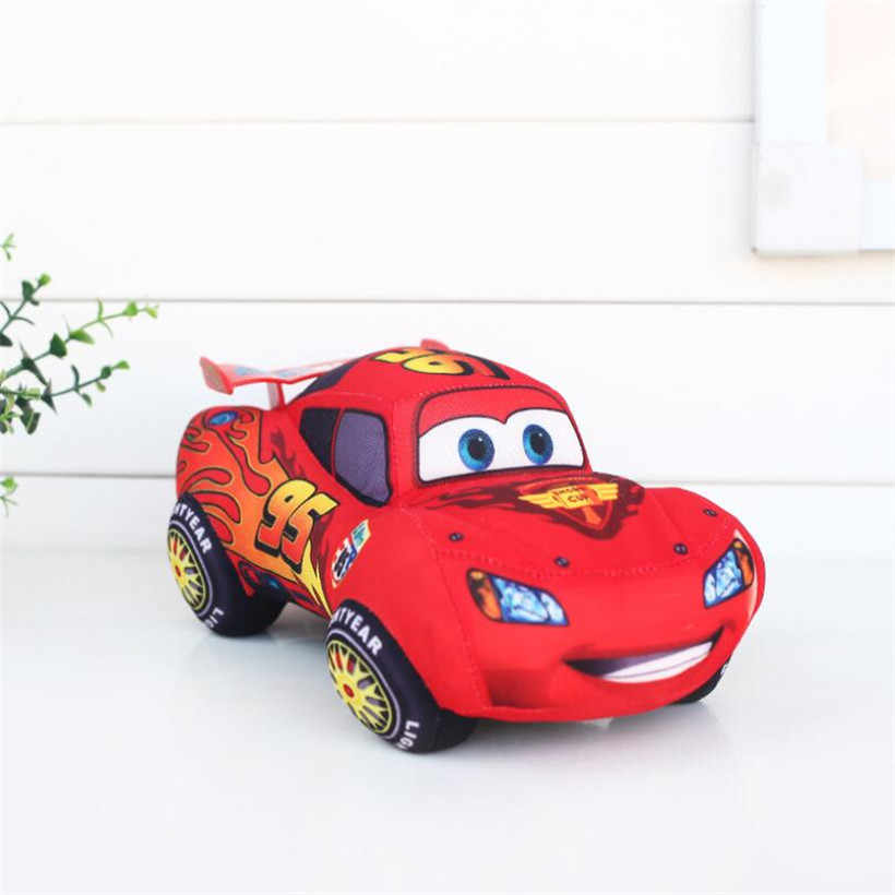 รถ Disney Pixar Cars 3 Lightning McQueen ของเล่น Plush 17 ซม.รถการ์ตูนน่ารักตุ๊กตาตุ๊กตาตุ๊กตาตุ๊กตาเด็กของขวัญ