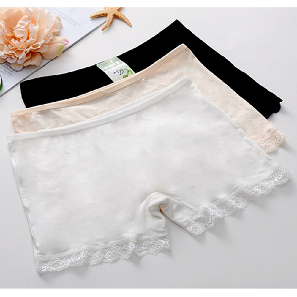 3pcs Anti Emptied Bottom Pants Modal Cotton Flat Angle Soft Breathable Comfortable Low Waist Safety Shorts Pants Girl Intimates