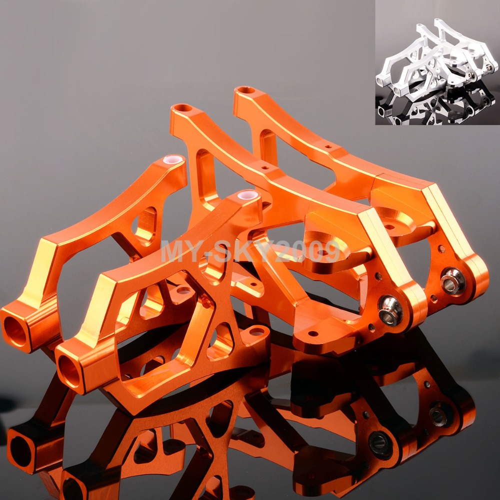Ensemble de bras de SUSPENSION avant en aluminium 4 pièces #85400 pour Bugy RC 1/5th HPI Baja 5B SS 5 T