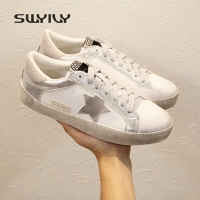 SWYIVY Woman Sneakers White Spring 2018 Spring Retro Woman Casual Shoes Dirty Shoes Female Canvas Shoes