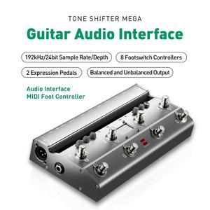 Image 2 - TS Mega 2 In 1 Midi Fuß Controller Mit Audio Interface Gitarre Pedal USB Aufnahme Für iPhone iPad Android Geräte mac PC