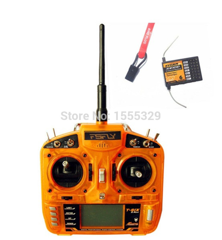 Coolhobby FSFLY 2.4GHz 6 CH Transmitter,Radio with S600 Receiver Surpass DX6i JR FUTABA for Helicopters,Airplanes,Quadcopters free shipping transmitter throttle stick upgrade m3 size f jr futaba dx6i dx8 red