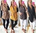 Mulheres Casaco Cardigan de Lã Quente Lapela Com Cinto Mangas Inverno Colete Jaqueta Blazer